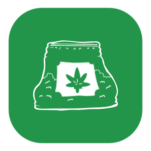 bag of marijuana icon