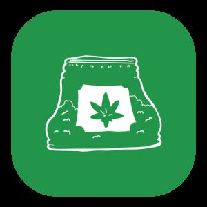 bag of marijuana icon