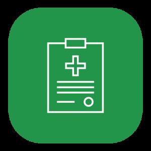 green clipboard icon