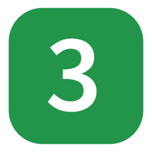 green number 3