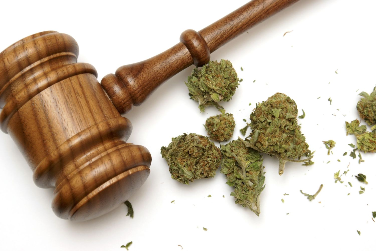 marijuana and a gavel together for s.420 bill